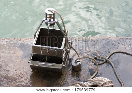 Grab Sampler is an instrument to sample sediment in water environments.
