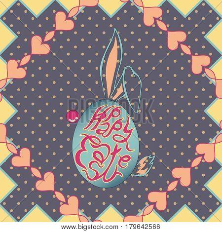 Happy easter egg season illustration graphic