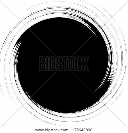 Abstract Spiral Element Series. Form With Rotating Distortion. Artistic Geometric Form. Circular Sha