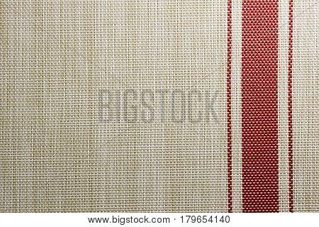 Background plastic swipe gray with red stripe