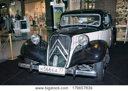 Moscow, Russia - April 02, 2017: Citroen 11C, Traction Avant, France 1953. Retro Car Exibition In Sh
