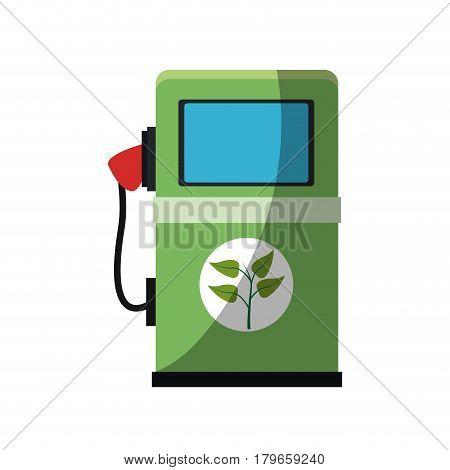 bio fuel pump icon over white background. colorful design. vector illustration