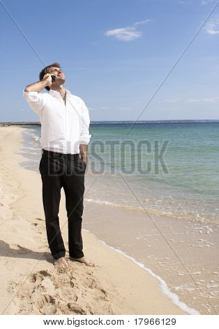 businessman talking by mobile phone