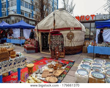Almaty - Kazakh Yurt On The Street
