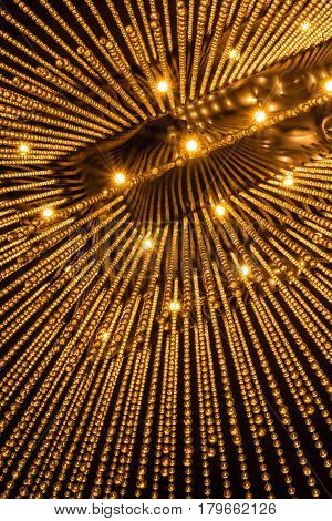 Luxury Chandelier Light pattern background in modern building