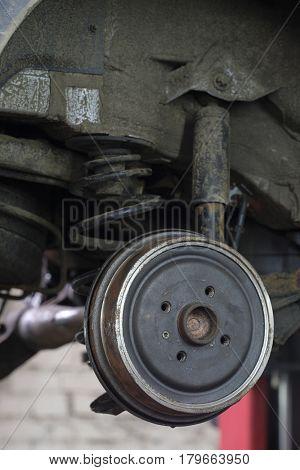 wheel hub close up