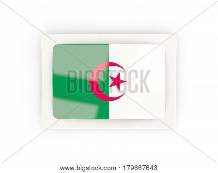 Rectangular Flag Of Algeria With Carbon Frame