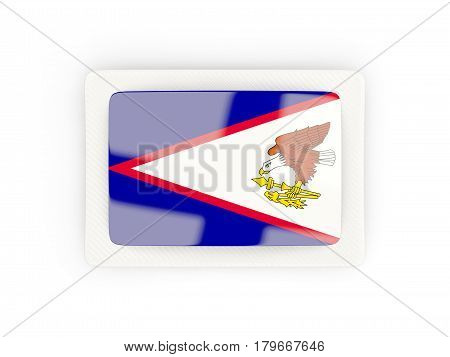 Rectangular Flag Of American Samoa With Carbon Frame