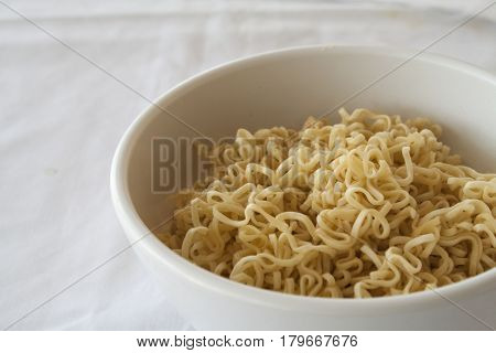 instant noodle food urgently hungry on background white