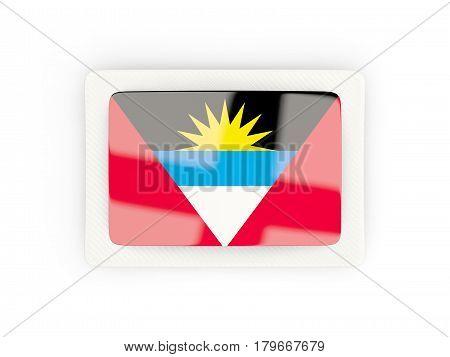 Rectangular Flag Of Antigua And Barbuda With Carbon Frame
