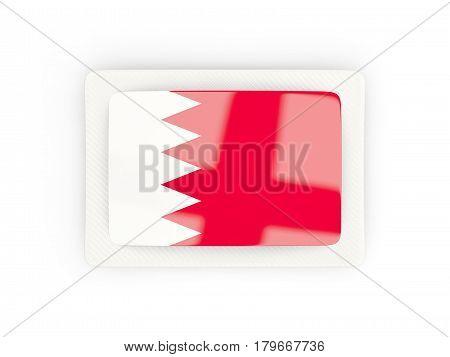 Rectangular Flag Of Bahrain With Carbon Frame