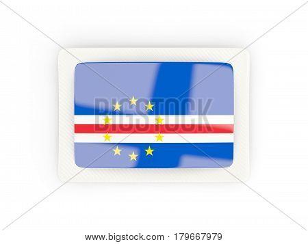 Rectangular Flag Of Cape Verde With Carbon Frame