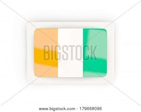 Rectangular Flag Of Cote D Ivoire With Carbon Frame