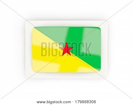 Rectangular Flag Of French Guiana With Carbon Frame