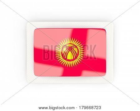 Rectangular Flag Of Kyrgyzstan With Carbon Frame