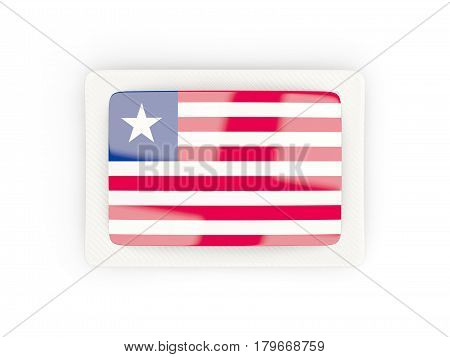 Rectangular Flag Of Liberia With Carbon Frame