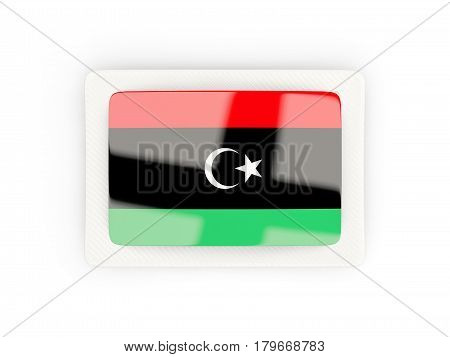 Rectangular Flag Of Libya With Carbon Frame