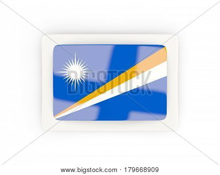 Rectangular Flag Of Marshall Islands With Carbon Frame