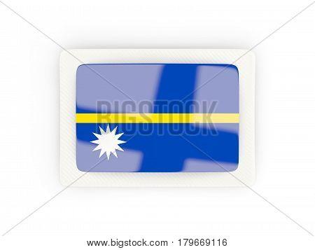 Rectangular Flag Of Nauru With Carbon Frame