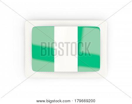 Rectangular Flag Of Nigeria With Carbon Frame