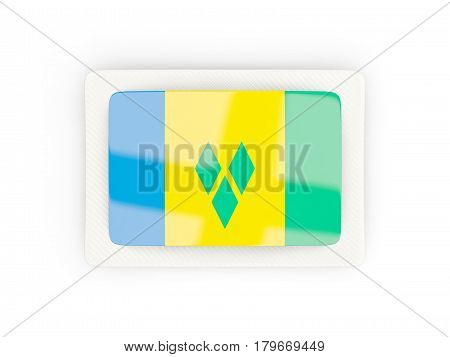Rectangular Flag Of Saint Vincent And The Grenadines With Carbon Frame