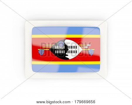 Rectangular Flag Of Swaziland With Carbon Frame