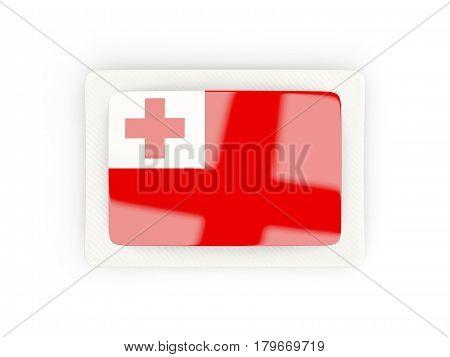 Rectangular Flag Of Tonga With Carbon Frame