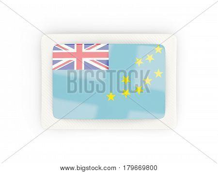 Rectangular Flag Of Tuvalu With Carbon Frame