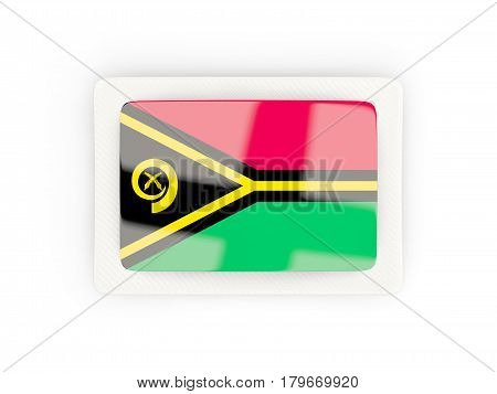 Rectangular Flag Of Vanuatu With Carbon Frame