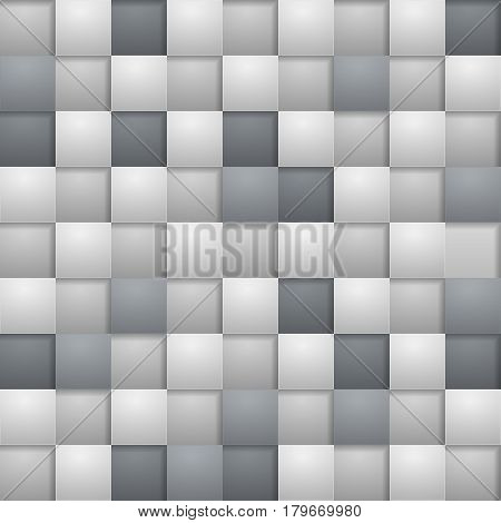 Grey square blocks abstract background. Vector illustration.