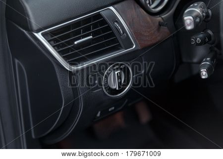 Luxury Car Interior Details.