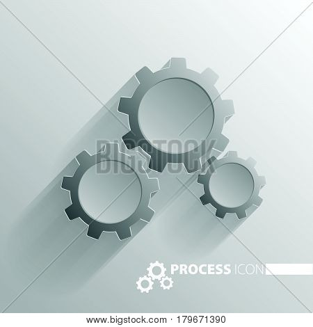 Concept Process Cogwheel Design Flat.process And Wheel, Cogwheel Vector.