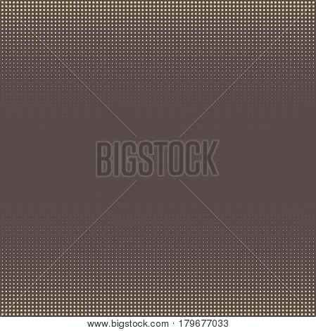 Seamless geometric brown and golden pattern. Modern ornament with dotted elements