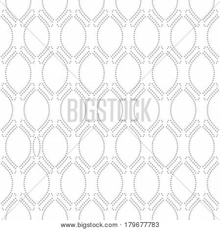 Seamless ornament. Modern geometric pattern with repeating wavy silver lines