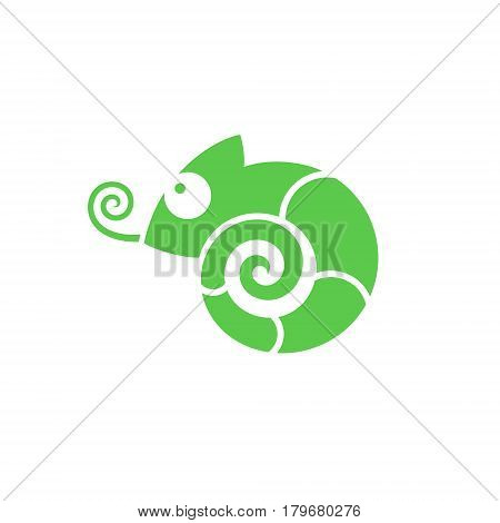 Abstract chameleon on white background. (EPS 10)