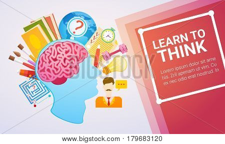 Education Online Learning Web Banner Flat Vector Illustration