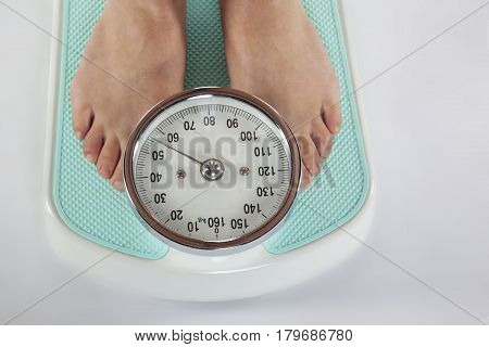 Female Feet On Weight