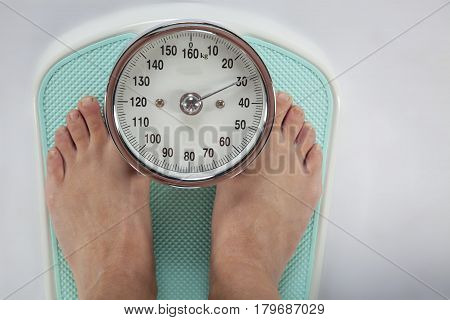Woman's Legs On Weight