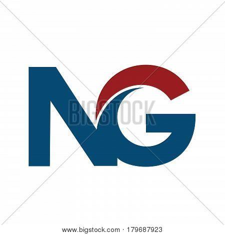 NG N G Business Letter Logo Design .