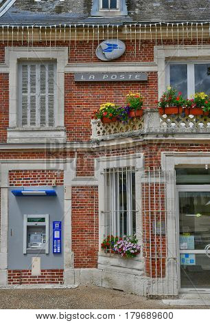 Jumieges France - june 22 2016 : the tourism office and the post office