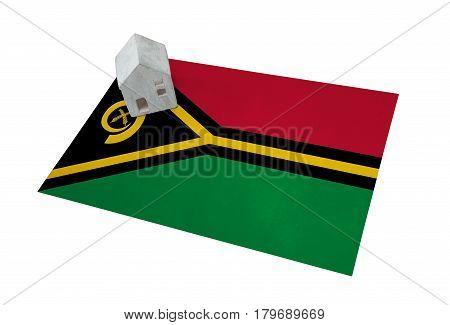 Small House On A Flag - Vanuatu