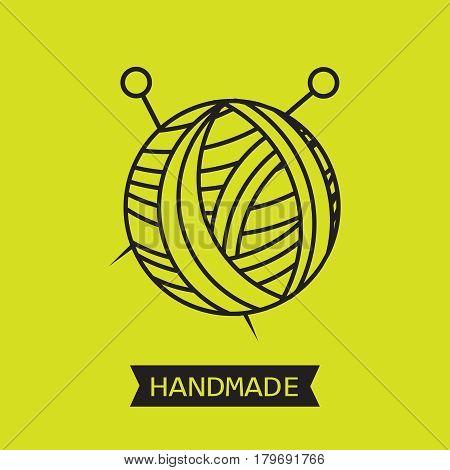 Handmade line vintage logo set. Handmade retro badges vector