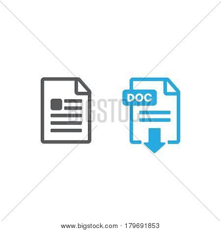 Set of file formats icons vector illustration vector