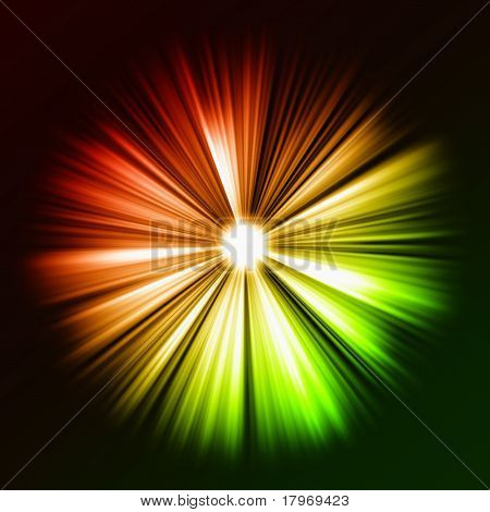Gradient rays of light: shining star in the dark. Large resolutin poster