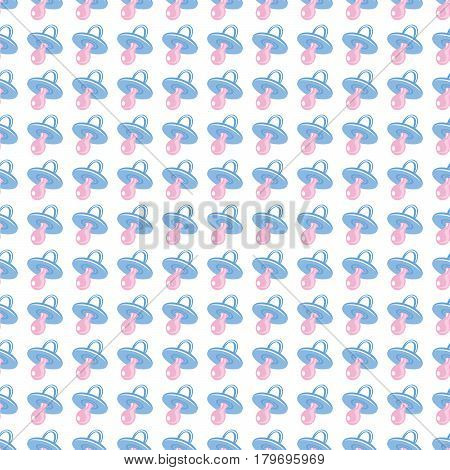 Seamless baby background for use in design, web site, packing, textile, fabric.Baby's dummy pattern.