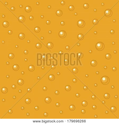 Pattern beer bubbles. Vector flat illustration. For web, info graphics for wine shop. Vector. Isolated black background.