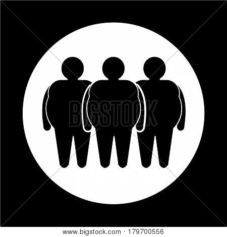 an images of Or pictogram Fat People Icon