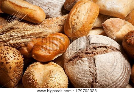 Assorted bread and pastry