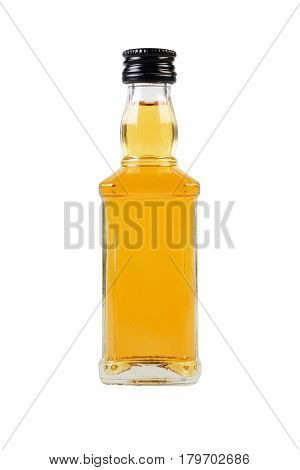A bottle of Whisky on white background