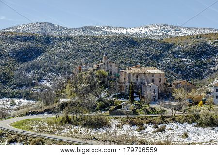 High mountain village of Perves of the region of the high Ribagorza Lleida Catalonia Spain. It belongs to the municipal term of Pont de Suert and has a census of 5 inhabitants